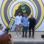 Planagumà, junto a Portillo y Hernández, en su presentación oficial