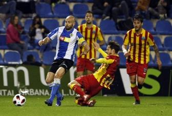 El Lleida resiste con diez